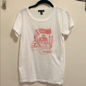 J. Crew embroidered T-shirt